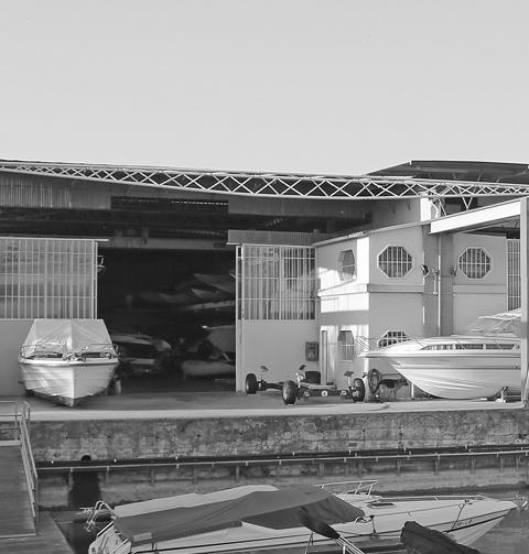 Bootswerft in Peschiera Gardasee